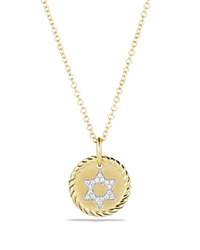 David Yurman Star Of David Necklace With Diamonds In 18K Gold