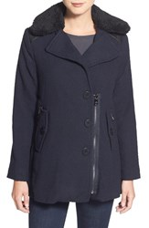 Women's Steve Madden Faux Shearling Collar Coat