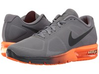 Nike Air Max Sequent Charcoal Grey Metallic Hematite Total Orange Anthracite Men's Running Shoes Charcoal Grey Metallic Hematite Total Orange Anthr