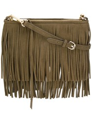 Rebecca Minkoff Fringed Crossbody Bag Green