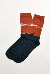 Urban Outfitters Werewolf Sock Rust