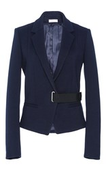 Carven Tailored Wrap Jacket Navy