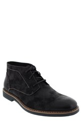 Men's Deer Stags 'Somers' Plain Toe Chukka Boot Black Canvas