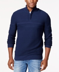 Alfani Black Vito Quarter Zip Sweater Only At Macy's