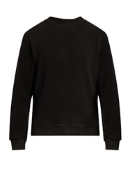 Fanmail Crew Neck French Terry Towelling Sweatshirt Black