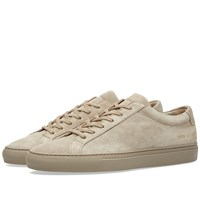 Common Projects Original Achilles Low Suede Brown