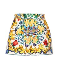 Dolce And Gabbana Printed Cotton Shorts Multicoloured