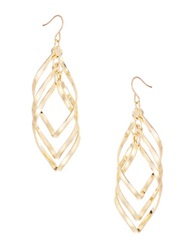 Catherine Stein Triple Swirl Drop Earrings Gold