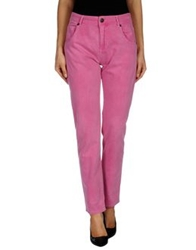Twin Set Simona Barbieri Denim Pants Pink