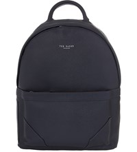 Ted Baker Zipped Faux Leather Backpack Navy