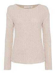 Oui Textured Long Sleeved Knit Grey