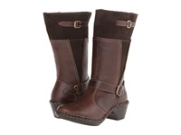 Lobo Solo Rioja Wide Calf Chocolate Leather Women's Wide Shaft Boots Brown