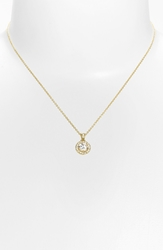 Nadri Boxed Framed Round Cubic Zirconia Necklace Nordstrom Exclusive Gold