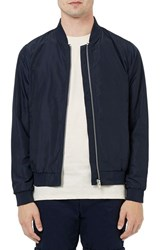 Topman Men's Lightweight Bomber Jacket Navy Blue