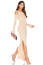 Nytt Cold Shoulder Maxi Dress Tan