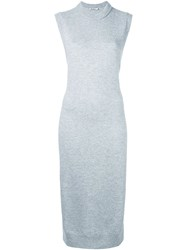 Alexander Wang T By Knitted Maxi Tunic Grey
