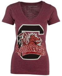 Royce Apparel Inc Women's South Carolina Gamecocks Sim Glitter T Shirt Red
