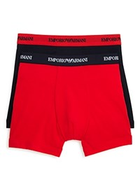 Armani Stretch Cotton Boxer Briefs Pack Of 2 Marine Red