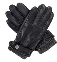 Dents Henley Touchscreen Leather Gloves Black