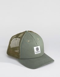 Element Icon Mesh Trucker Cap Green