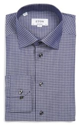 Men's Eton Contemporary Fit Houndstooth Dress Shirt