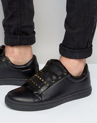 Asos Trainers In Black With Removable Studded Fringe Detail Black