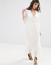 Stevie May Textured Longsleeve Maxi Dress White