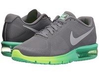 Nike Air Max Sequent Clear Grey Metallic Silver Green Glow Ghost Green Women's Running Shoes Gray