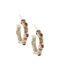 Konstantino Pink Tourmaline Hoop Earrings