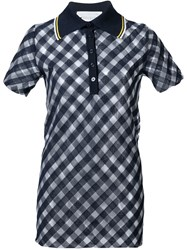 Stella Mccartney 'Transparent Checks' Polo Shirt Blue