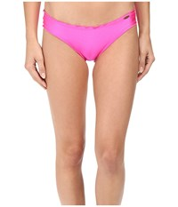 Luli Fama Too Hot Miami Full Ruched Back Bottom Too Hot Pink Women's Swimwear