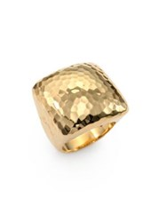 Roberto Coin Martellato 18K Yellow Gold Square Cocktail Ring