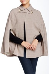 1.State Plaid Collared Cape Beige