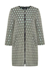 Hallhuber Honeycomb Jacquard Coat Multi Coloured