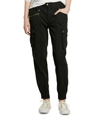 Lauren Ralph Lauren Cotton Chino Cargo Pants Black
