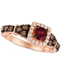 Le Vian Chocolatier Raspberry Rhodolite Garnet 3 8 Ct. T.W. And Diamond 5 8 Ct. T.W. Ring In 14K Rose Gold