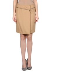 Tory Burch Knee Length Skirts Camel