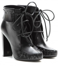 Tom Ford Santa Fe Leather Ankle Boots Black