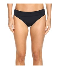 Jantzen Solids Shirred Waist Bottom Black Women's Swimwear