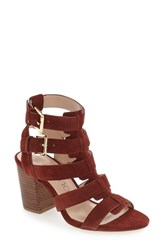 Sole Society Women's 'Rhea' Sandal Red Wine Suede Suede