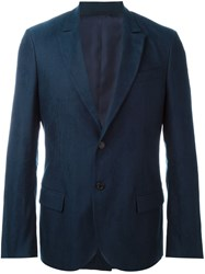 Ermanno Scervino Two Button Fitted Blazer Blue