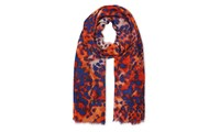 Whistles Lily And Lionel Animal Scarf Multicolour