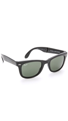 Ray Ban Folding Wayfarer Sunglasses Black Green