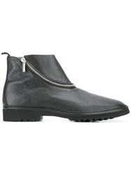 Pollini Zipped Boots Black