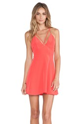 Nbd Crave Fit And Flare Dress Coral