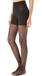 Spanx Tight End Fishnet Tights Black