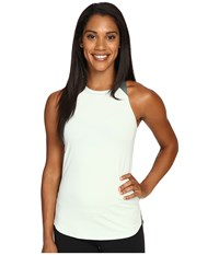 The North Face Dynamix Tank Top Subtle Green Heather Balsam Green Women's Sleeveless White