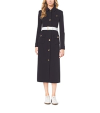 Michael Kors Belted Military Coat Navy