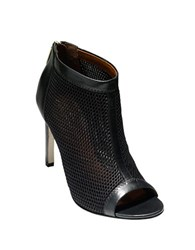 Cole Haan Adella Mesh And Leather Booties Black