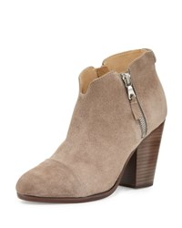 Rag And Bone Margot Side Zip Ankle Boot Warm Gray Warm Grey